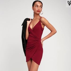 Free People Dylan Surplice Bodycon Dress